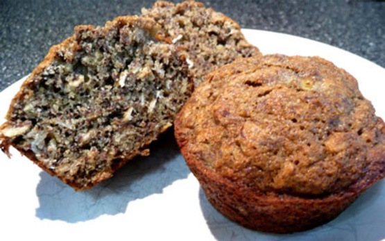 Brown Banana Flax Seed Muffins
